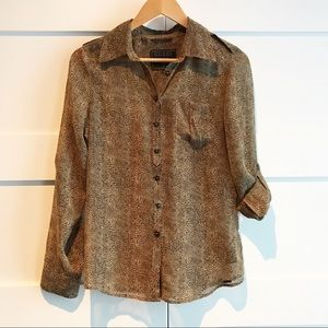 Guess roll sleeve blouse